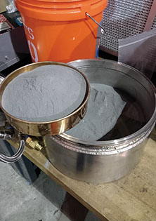 Tool-steel powder from one of our 200kg machines